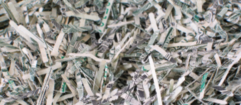 Yes people, that is shredded money. It's how money is officially disposed of.