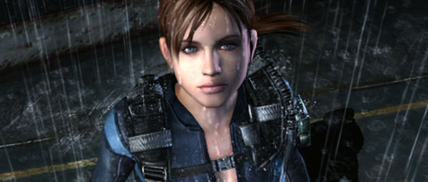 No, that's not rain. They're just tears of joy that we got at least one decent Resident Evil this year.