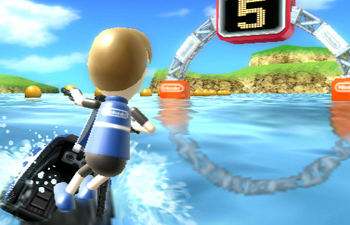 Wii Sports Resort added many more things to do, including a minor version of Wave Race.