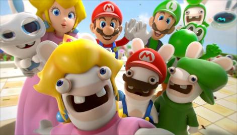 Mario + Rabbids group selfie