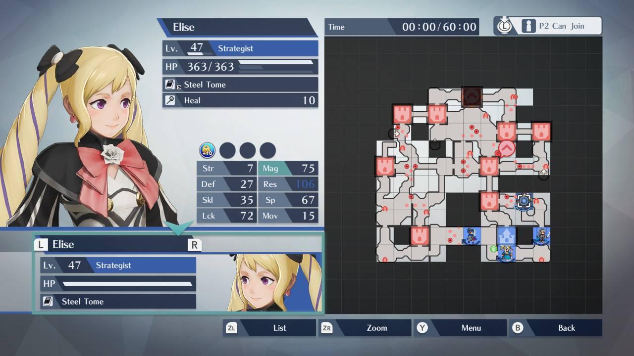 Fire Emblem Warriors map screen