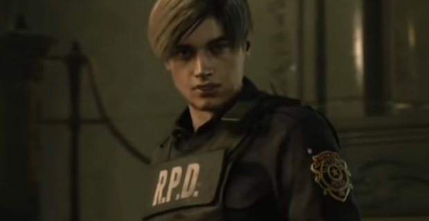 RE2 Remake Gameplay Screenshot Via Stream - Leon S. Kennedy
